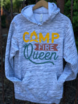 Campfire Queen Hoodie in Marble Grey