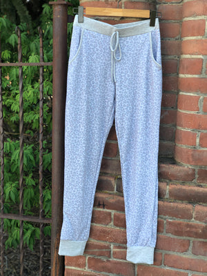 Animal Print Drawstring Sweatpants