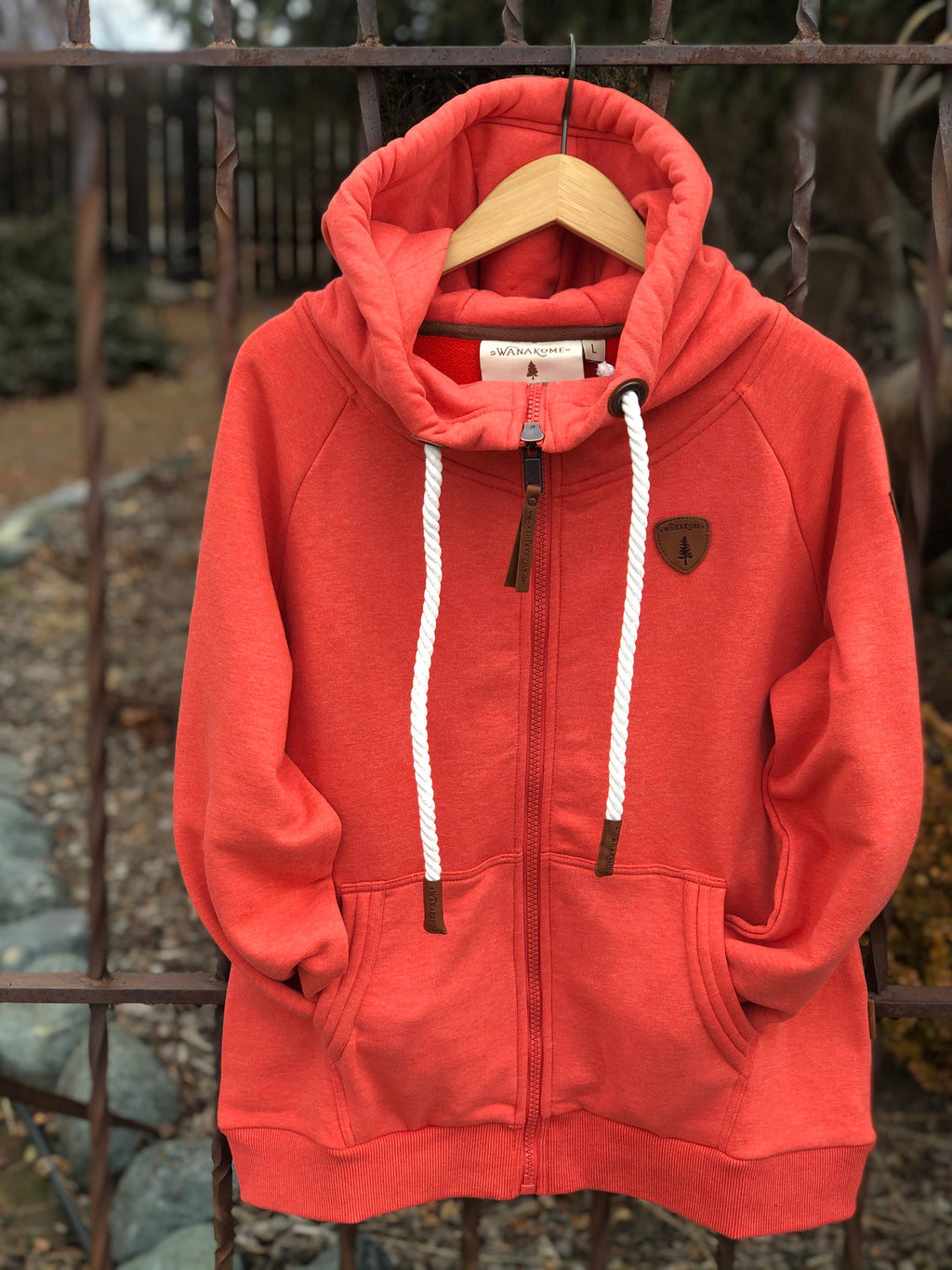 Wanakome Hera Aurora Red Zip Up Hoodie