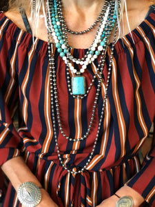 Zowee Turquoise Triple Strand Necklace