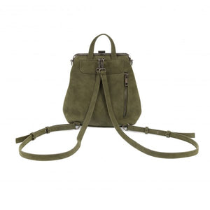 Phyllis Nubuck Frame Convertible Backpack Bag