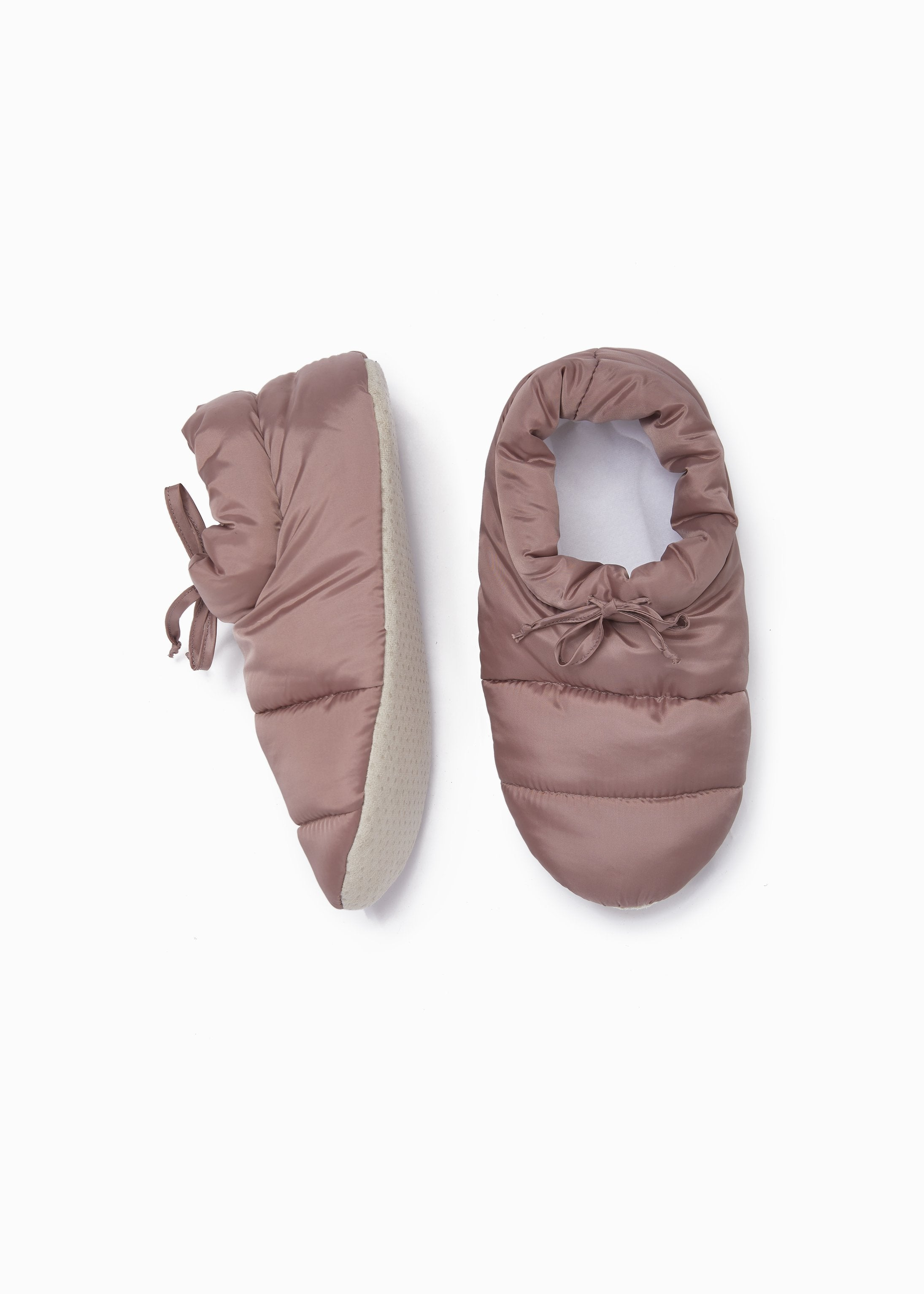 Puffer Slipper Socks in Rose Gold - tempting-teal-boutique