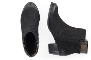 Rieker Maira Leather Boots in Black