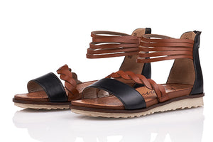 Gizela Rieker Sandal in Black and Brown