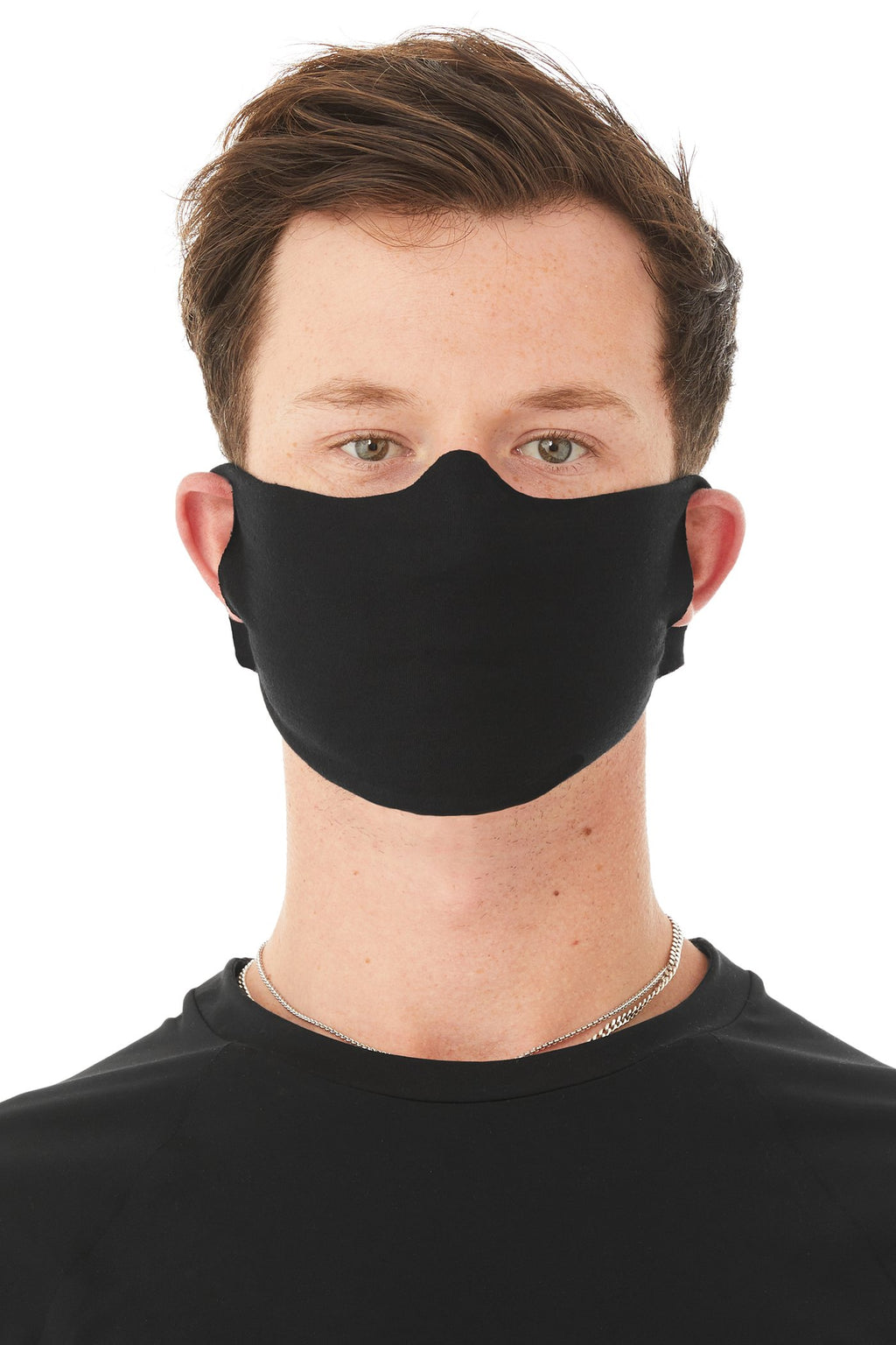 Lightweight Fabric Facecover Mask 4 Pack in Black