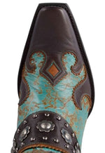 Double D Ranch by Old Gringo Ranchitos Ridge Leather Boot Blue Fango