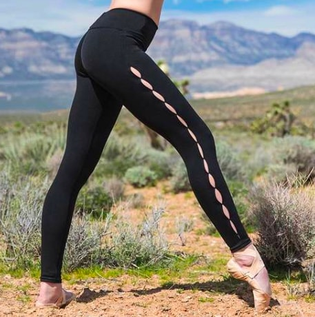Pop Fit Athletic Legging Roxy with pockets in Black Athleisure  Wear
