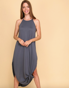 Spaghetti Strap Maxi Dress w/ Keyhole in Back