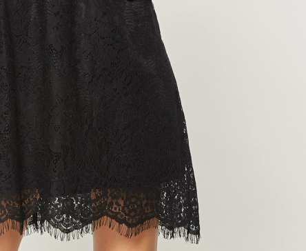 Andree All Over Lace Dress in Black