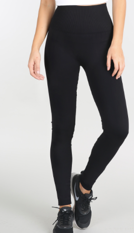 Nikibiki Highwaist Band Leggings in Black - tempting-teal-boutique