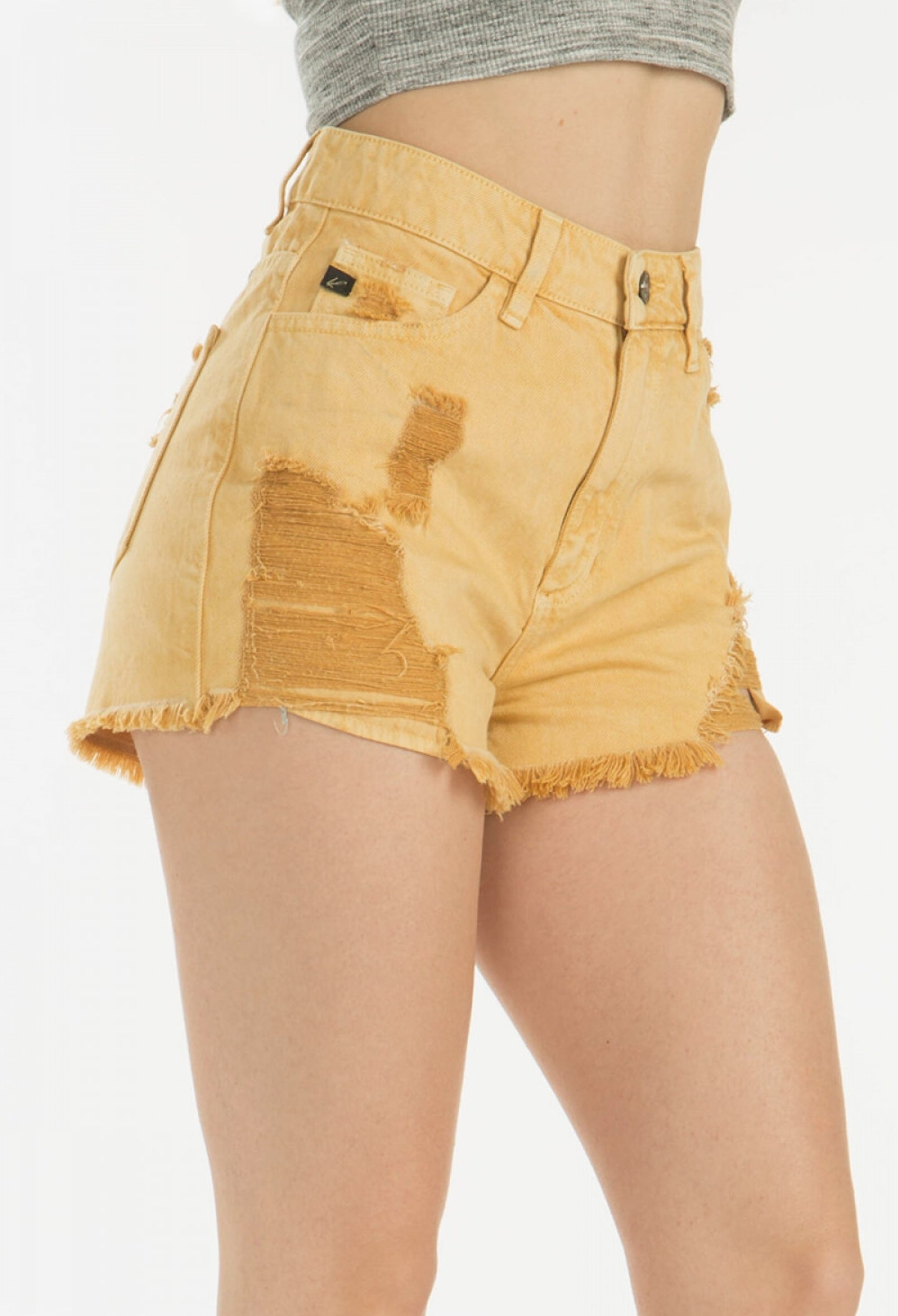 Kancan High Rise Shorts in Yellow