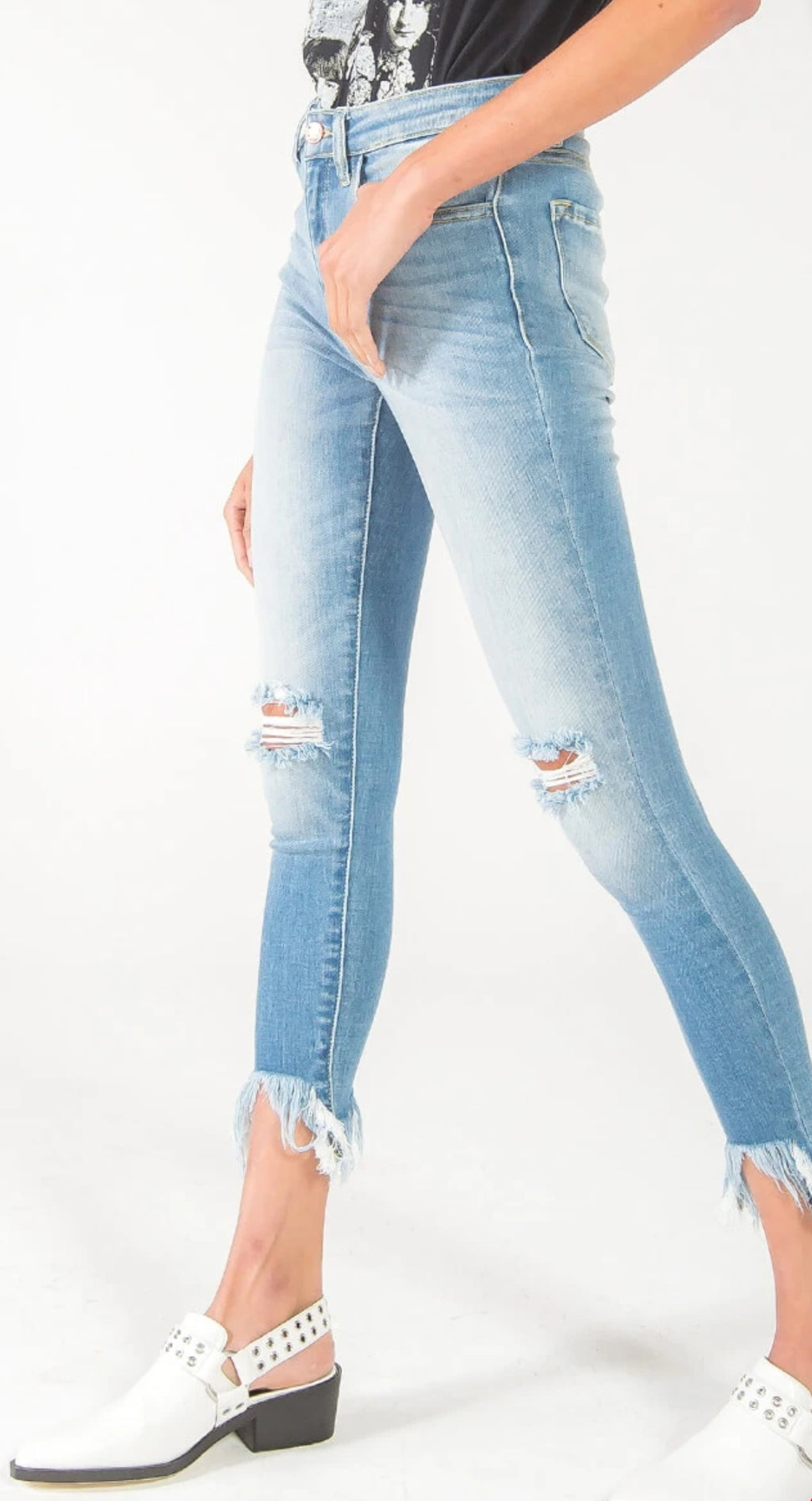 Kancan Gemma High Rise Ankle Skinny Jeans