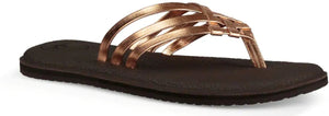 Sanuk Yoga Salty Metallic Sandals in Copper