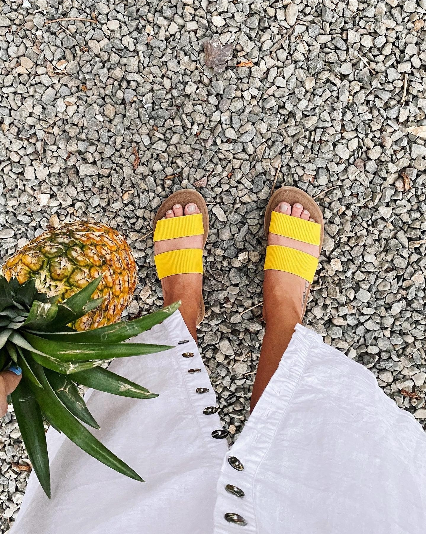 Sanuk Yoga Gora Slides in Yellow