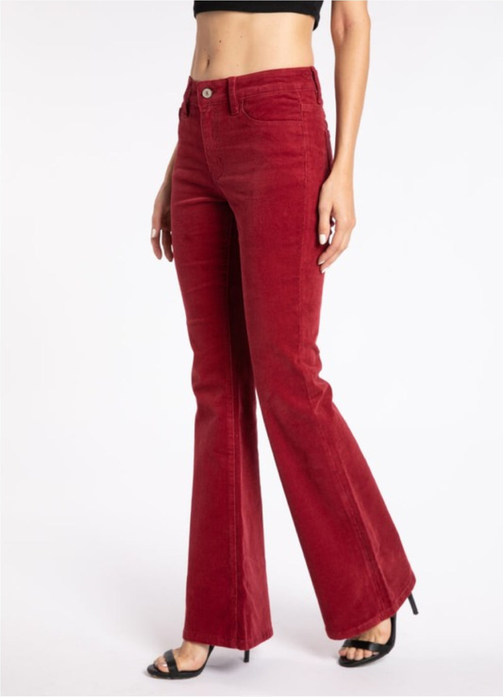 Red KanCan High Rise Skinny Flare Corduroy Jeans
