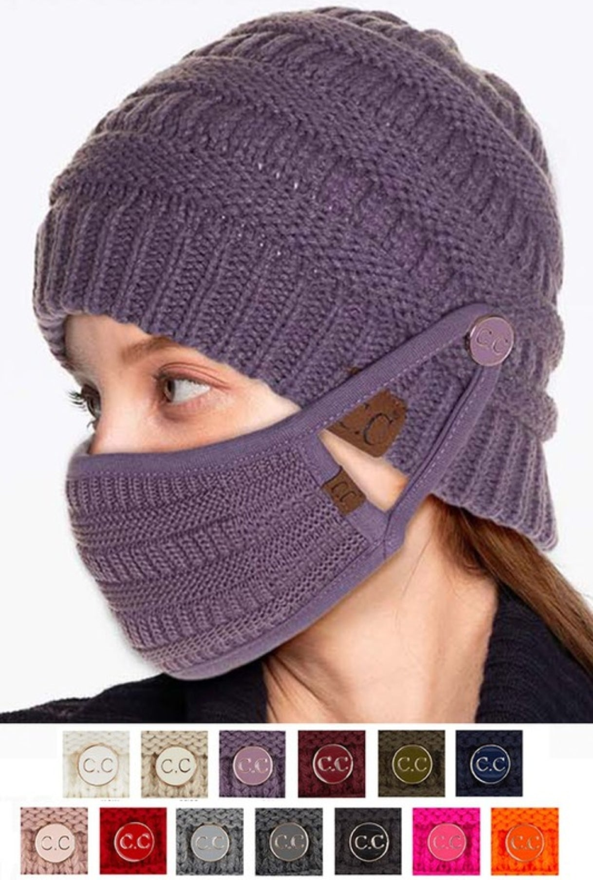 CC Beanie with Mask Buttons