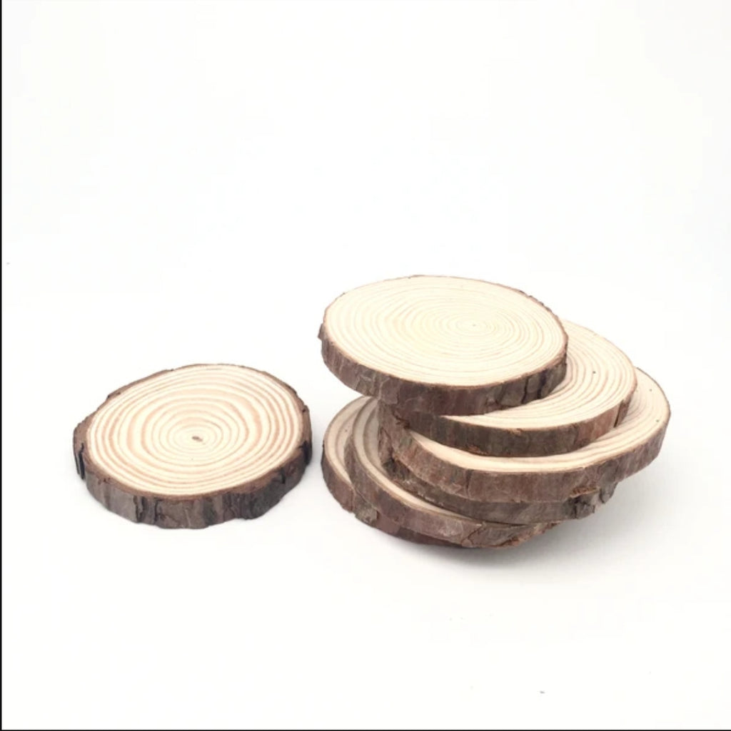 Candle Coaster made of Natural Wood