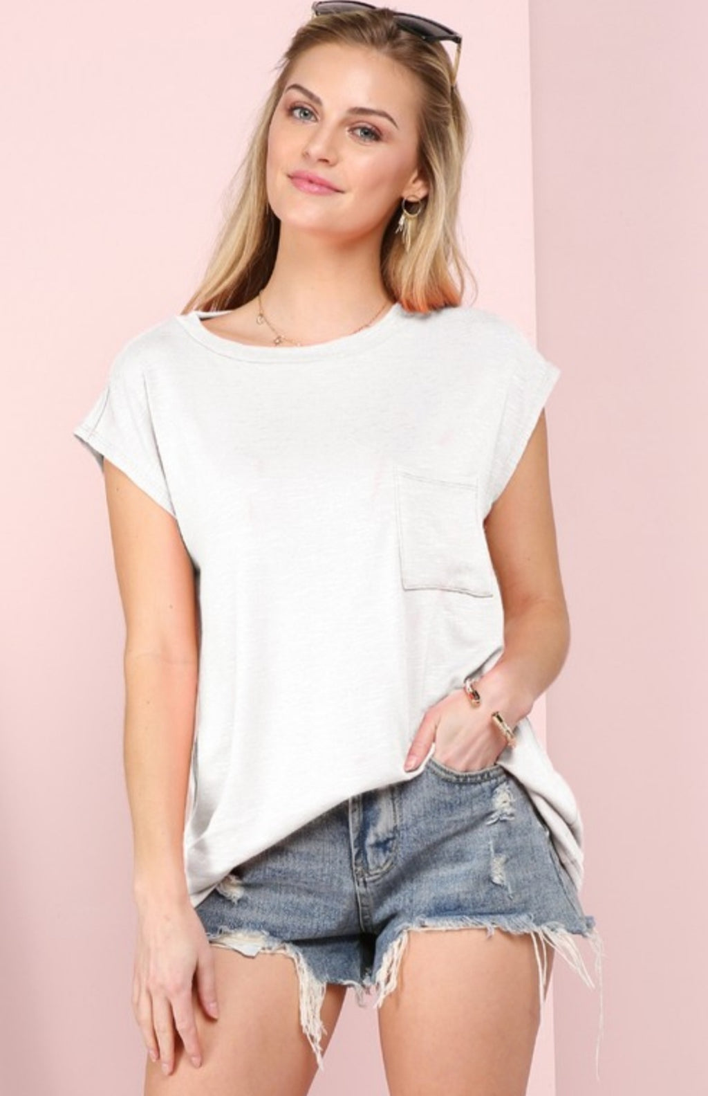 Muscle Top with Pocket Detail