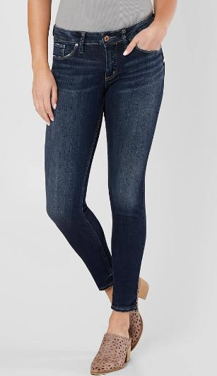 Silver Suki Mid Rise Skinny Ankle Length Jeans
