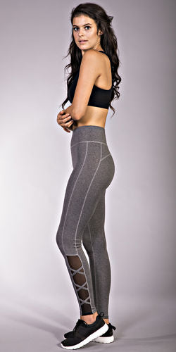 Pop Fit Athletic Leggings Lily with Pockets Ballet Style Athleisure Wear