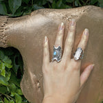 Crystal Talon Ring in Silver