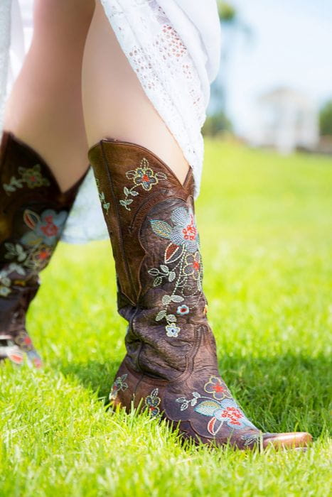 Old Gringo Leather Cowboy Boots Bonnie w/ Floral Embroidery