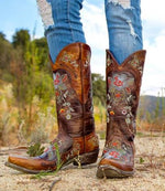 Old Gringo Leather Boots Bonnie w/ Floral Embroidery