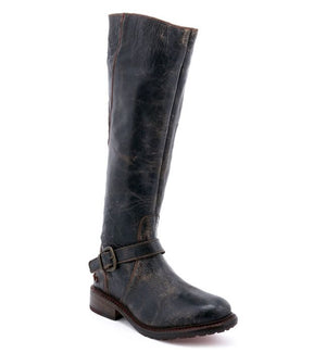 Bed Stu Glaye Tall Leather Boots in Black Lux