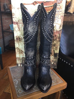 Old Gringo Tall Belinda Leather Cowboy Boots in Black