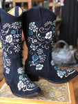 Cowgirl Floral Daze Tall Boot in Navy