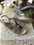 Rieker Fawna Wedge Sandal in Olive Green