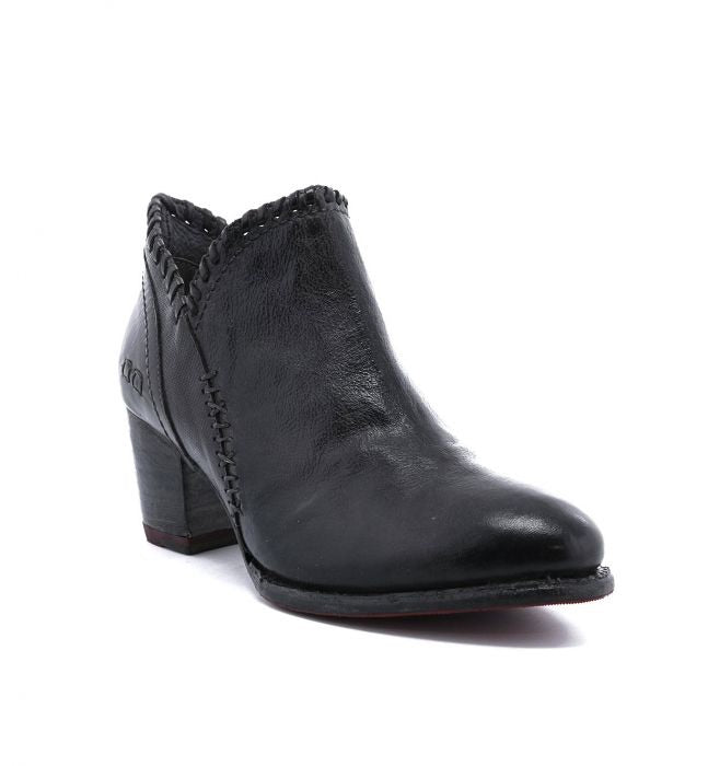 Bed Stu Carla Leather Boots in Black Dip Dye