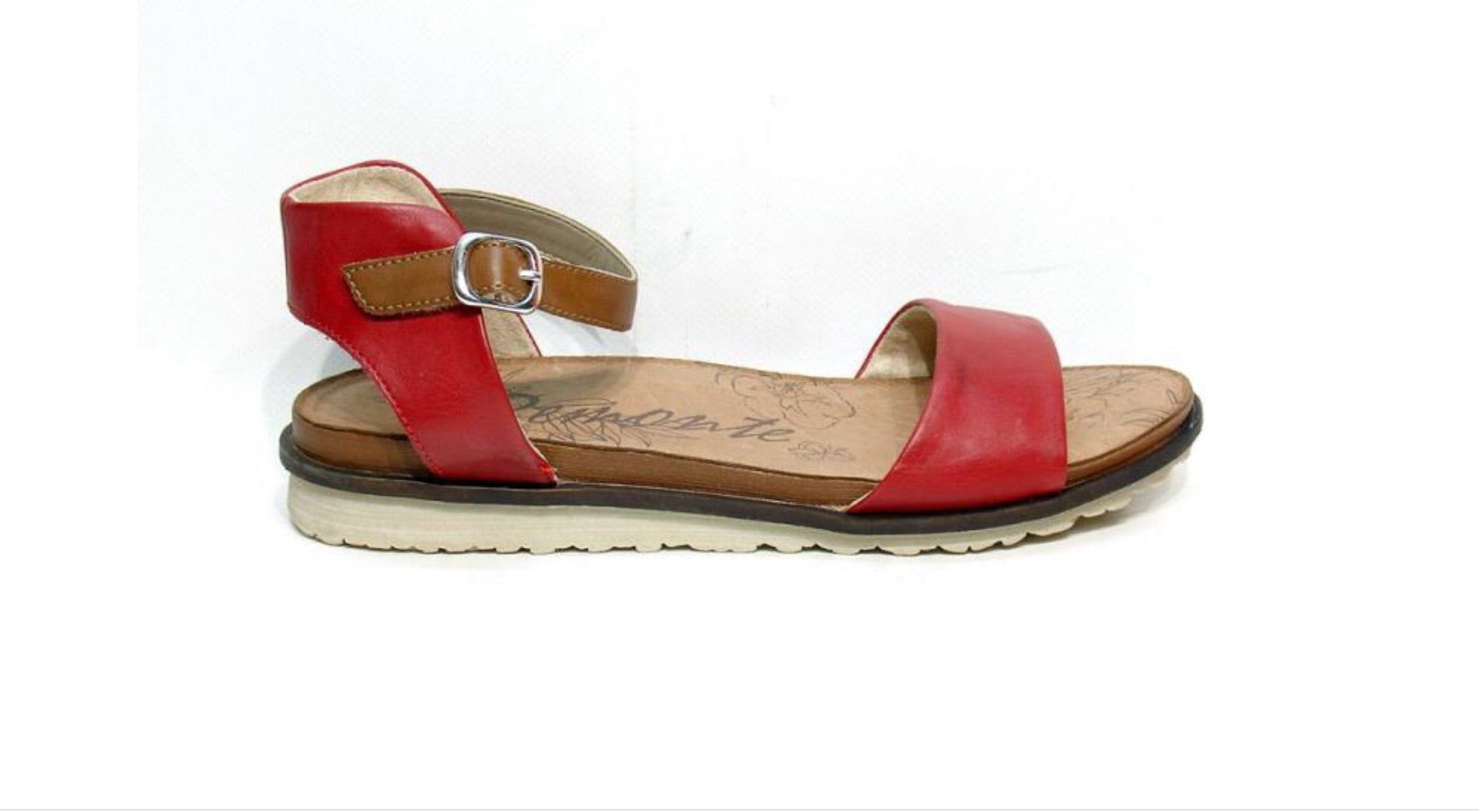 Remonte Gizela Leather Sandal In Red