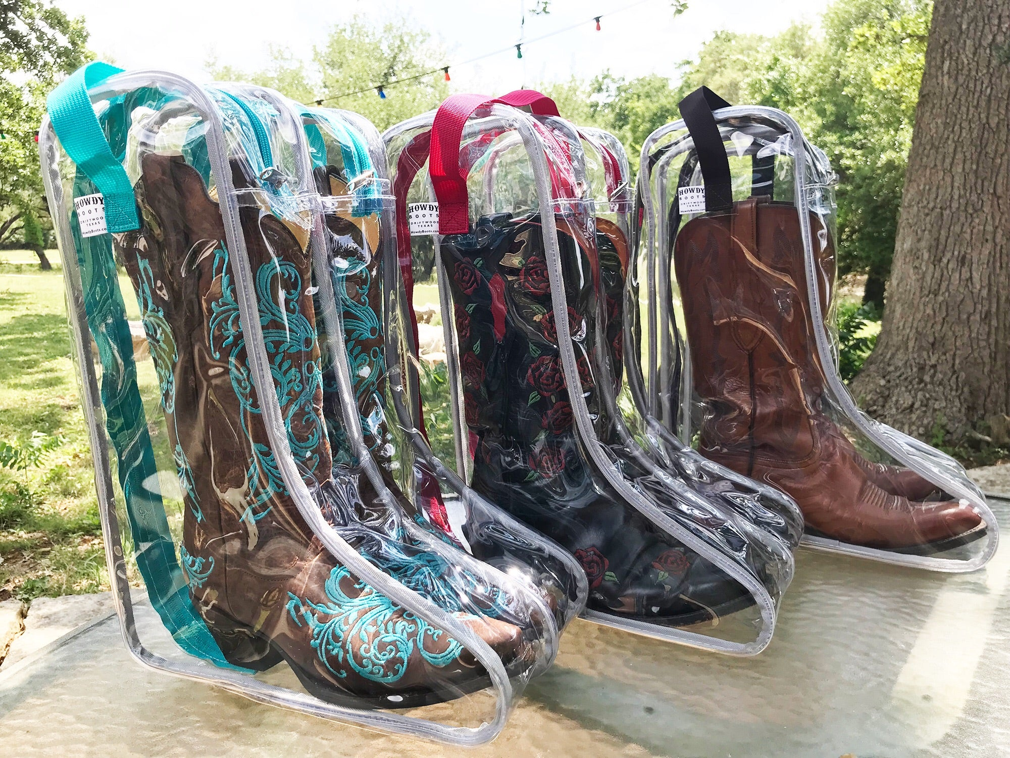 Howdy Boot Bag - Original See-Thru Boot Bag - tempting-teal-boutique