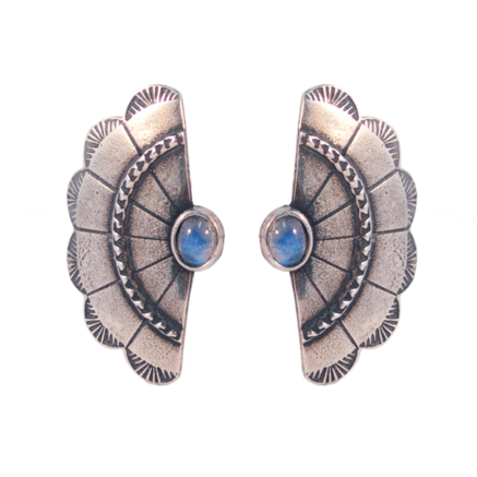 The 2Bandits Concho Wing Earrings in Moonstone