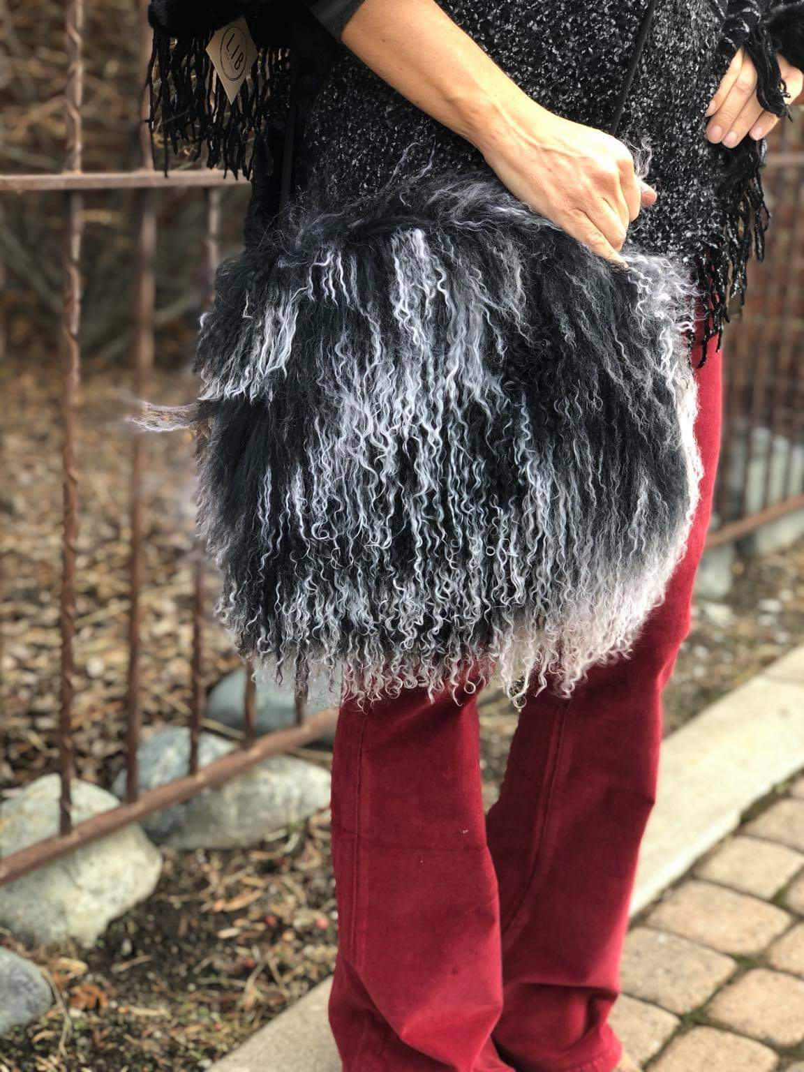 Tibetan Lamb Muff Bag in various colors