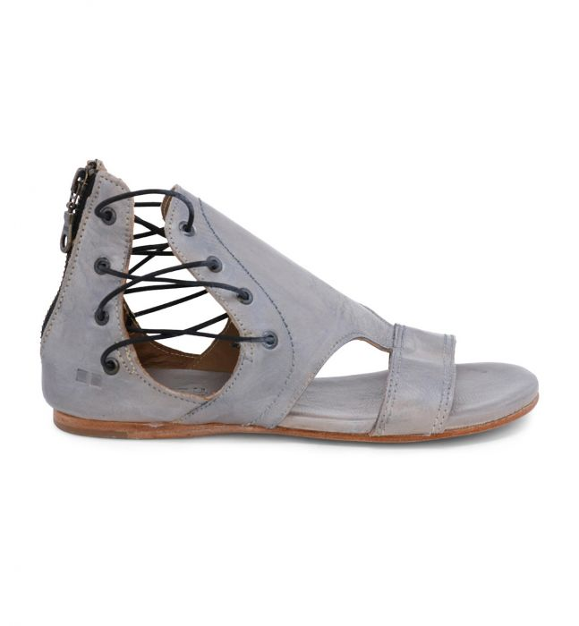 Bed Stu Sarabi Grey Rustic Silver Metallic Sandal - tempting-teal-boutique