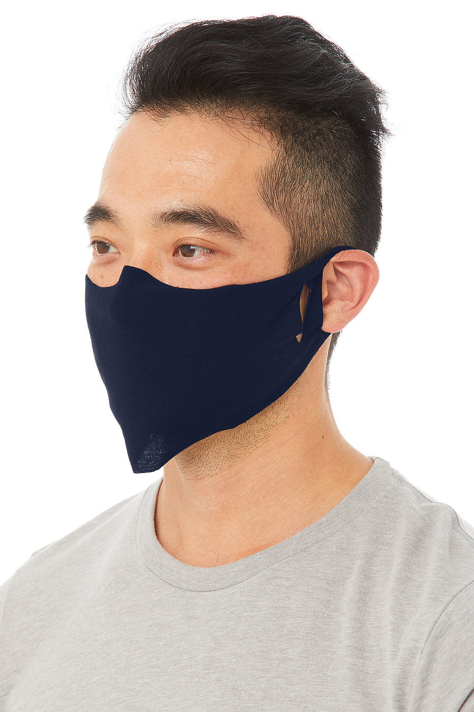 Lightweight Fabric Facecover Mask 4 Pack in Navy Blue