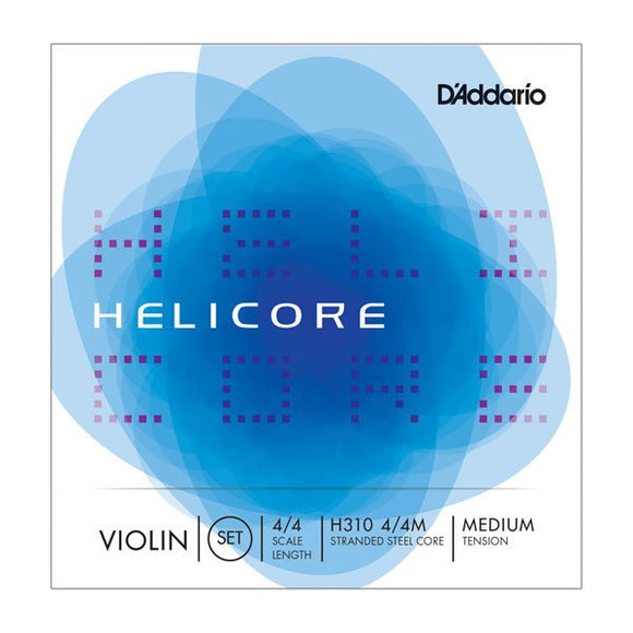 Helicore H-310 Violin Strings by D'Addario 4/4 Size - Medium Tension - Jakes Main Street Music