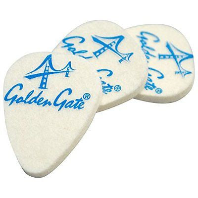 Golden Gate Felt Ukulele Picks - 3 Pack - Jakes Main Street Music