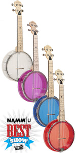 "Gold Tone ""Little Gem"" LG Series Transparent Banjo Ukuleles - Jakes Main Street Music"