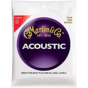Martin M140 80/20 Bronze Strings Light Acoustic Guitar String - Jakes Main Street Music