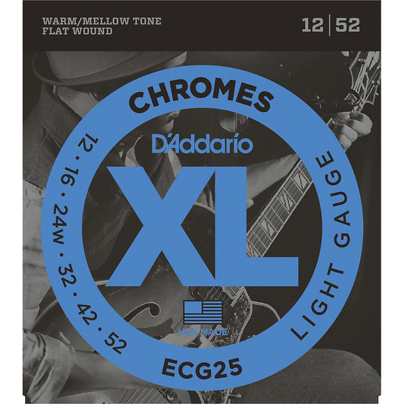 D'Addario ECG25 Chromes Light Electric Guitar Strings - Jakes Main Street Music