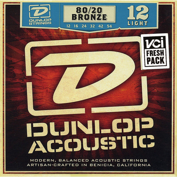 Dunlop DAB1254 80/20 Bronze Light Acoustic Strings - Jakes Main Street Music