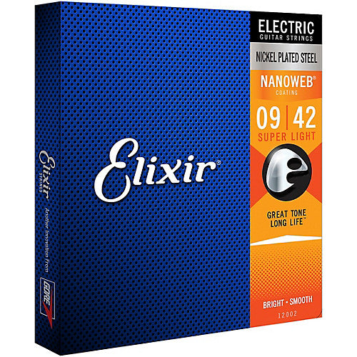 Elixir Nanoweb Electric Guitar Strings - Super Light - Jakes Main Street Music