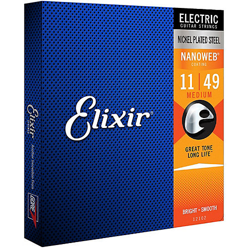 Elixir Nanoweb Electric Guitar Strings - Medium 12102 - Jakes Main Street Music