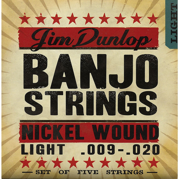 Dunlop DJN0920 Nickel Light Banjo Strings - Jakes Main Street Music