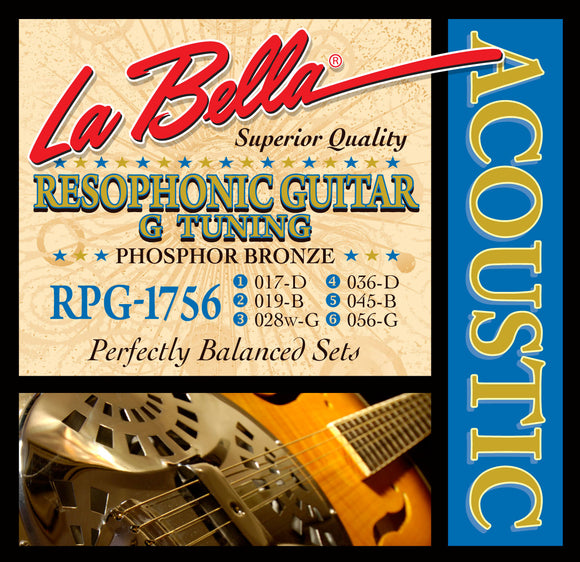 LaBella RPG-1756 Resophonic Guitar Strings - G Tuning - Medium - Jakes Main Street Music