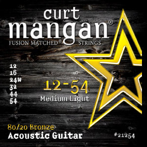 Curt Mangan FusionMatched® 80/20 Bronze Acoustic Strings - Medium Light - Jakes Main Street Music