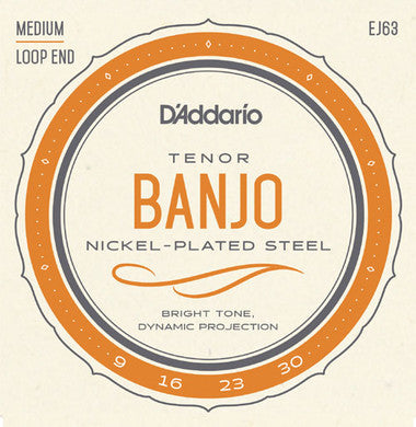 D'Addario EJ63 Medium Tenor Banjo Strings - Jakes Main Street Music